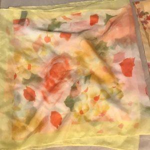 Vintage sheer rose motif scarf